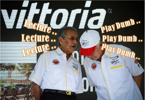 Mahathir Lecture - Najib Play Dumb