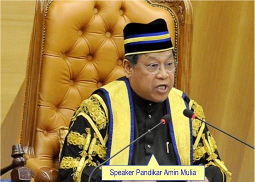 Malaysia Dewan Rakyat Speaker Pandikar Amin Mulia