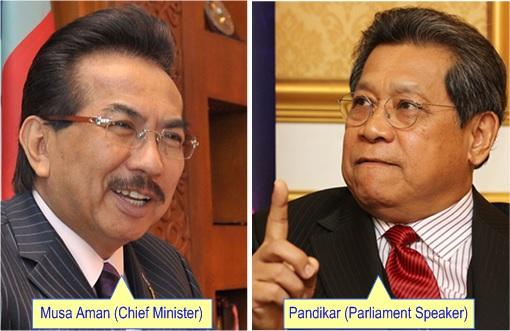 Musa Aman and Pandikar Amin Mulia - Rivals