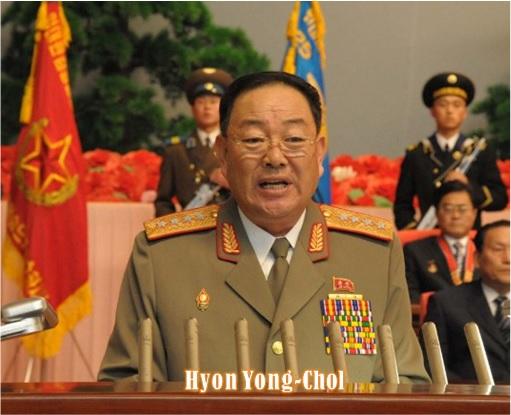 North Korean Defence Minister Hyon Yong-Chol