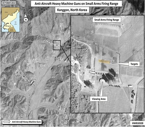 North Korean Kim Jong-Un - Execute Officials with ZPU-4 - Satellite Image