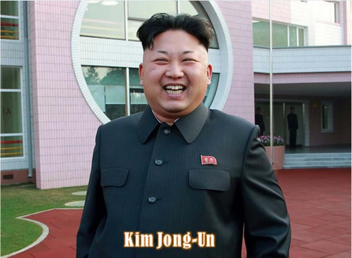 North Korean Kim Jong-Un - Laughing