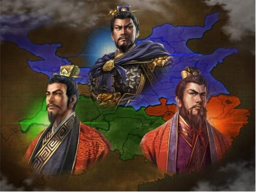 Romance of the Three Kingdom - Map and Character Liu Bei, Cao Cao, Sun Quan