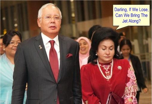 Rosmah Mansor Asks Hubby Najib Razak - Bring Along Jet