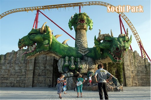 Russia Moscow Disneyland - Sochi Park Snake Attraction