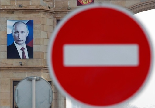 Russian Putin Administration Shut Down Undesirable Unfriendly Organization - No Entry Sign