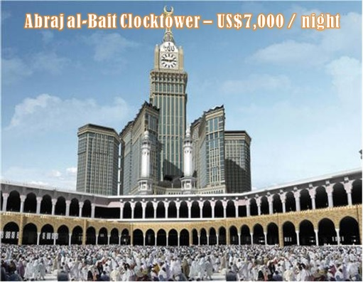 Saudi Arabia Abraj al-Bait - US$7000 per night