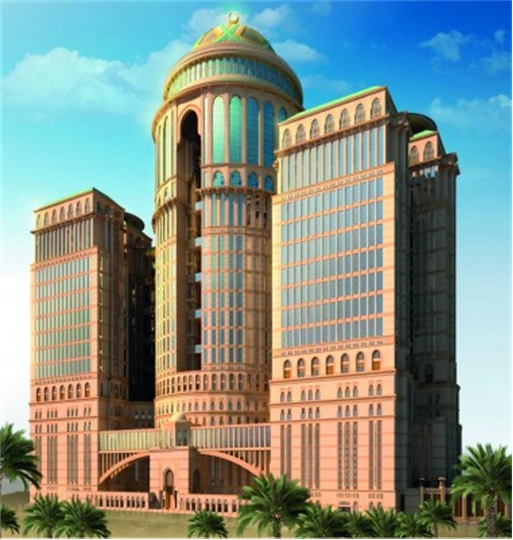 World's Biggest Hotel - Mecca Abraj Kudai - Side View