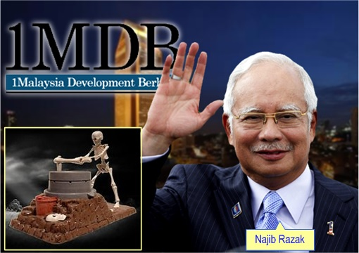 1MDB Scandal - Najib Razak - ghosts and devils turn grind stone