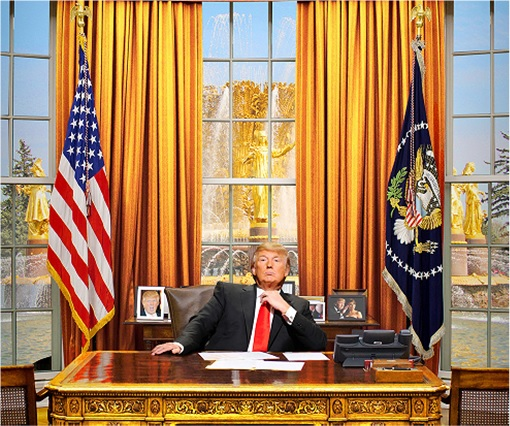 donald trump as president of the united states in oval office