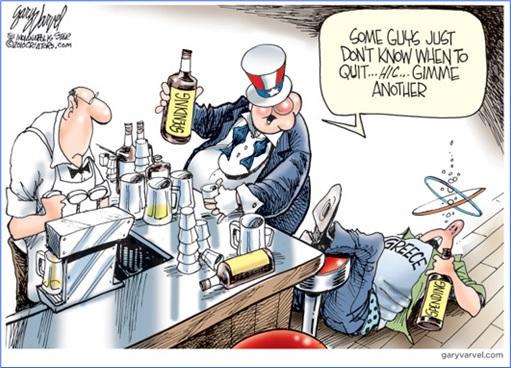Greece Euro Exit - Greeks Overspending Comic