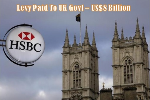 HSBC Job Cut - Levy Paid to UK Government