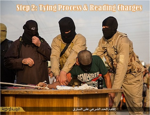 ISIS Hacking and Chops Off Hand - Step 2 - Tying Process and Reading Charges