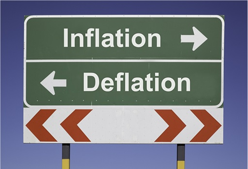 Inflation-Deflation Signboard