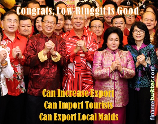 Malaysian Ringgit Toast - Congratulations from Najib and Ministers