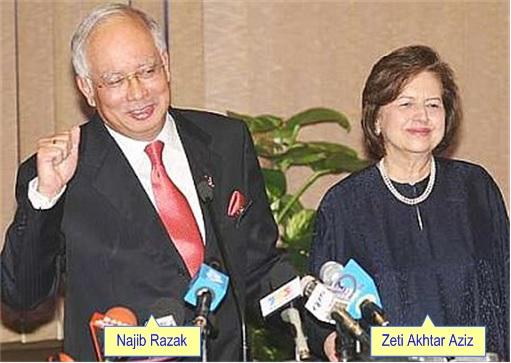 Malaysian Ringgit Toast - Najib Razak and Zeti
