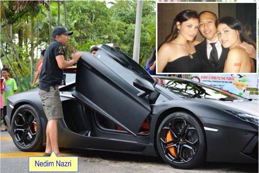 Mohamad Nedim Nazri with his Supercar