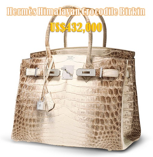 Most Expensive Hermès Birkin Bag - Himalayan Crocodile Birkin US$432000