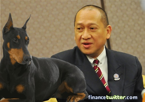 Nazri Aziz Wanna With Doberman