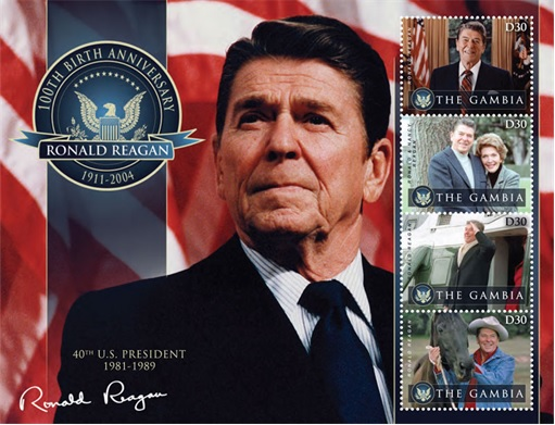 Ronald Reagan As The US President - Legacy in Stamps