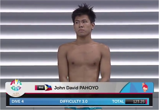 SEA Games - Filipino Divers Score Zero - John David Pahoyo Getting Ready