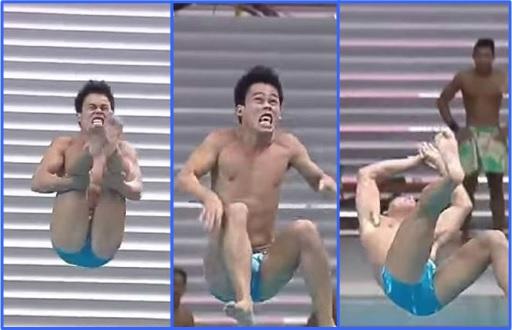 SEA Games - Filipino Divers Score Zero - John Elmerson Fabriga Funny Dive Landing