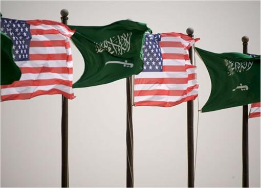 Saudi Arabia and United States Friendship - Flags