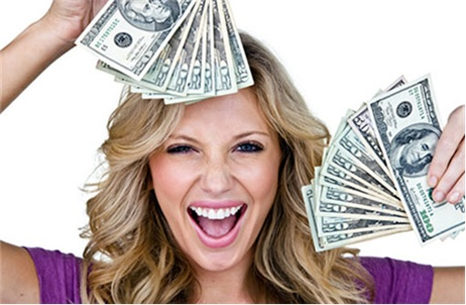 Shopper Happy With Money