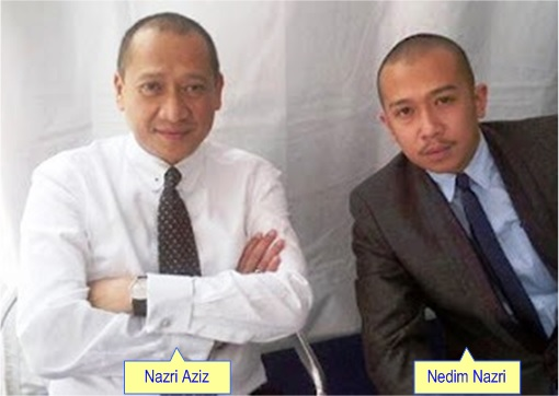 Tourism and Culture Minister Mohamed Nazri Abdul Aziz with Son Mohamad Nedim Nazri
