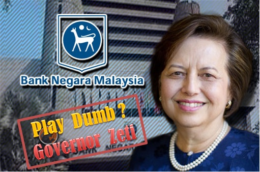1MDB Scandal - Bank Negara Governor Zeti Plays Dumb