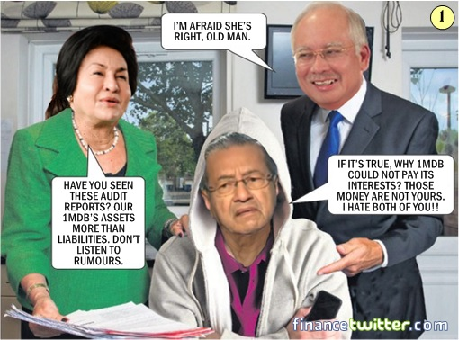 1MDB Scandal - How Najib Got Into Trouble From Mahathir - Comic 1
