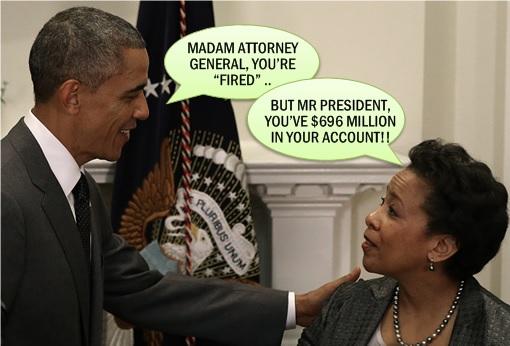 Barack Obama Fired Madam Attorney General Loretta Lynch
