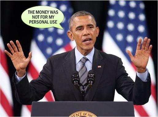 Barack Obama - Money Not For Personal Use