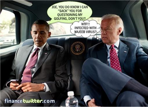 Barack Obama with Joe Biden - Infected by Najib VIrus