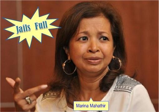 Crime To Parody 1MDB - Marina Mahathir - Jails Full