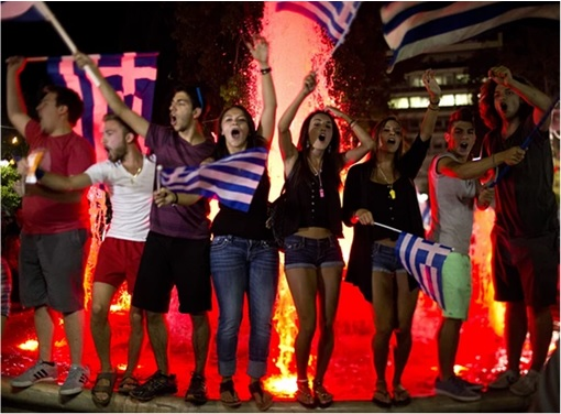 Greece Voted No in Referendum 2015 - Celebration