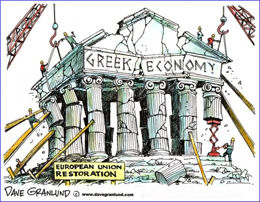 Greek Economy Collapsing - Cartoon
