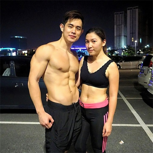 Jordan Yeoh - Hunky Durian Seller - With Fiancee