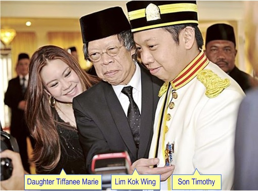 Lim Kok Wing - Daughter Tiffanee Marie - Son Timothy