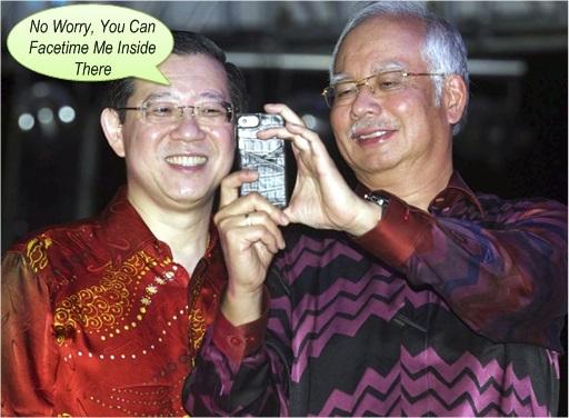 Najib Razak Selfie with Lim Guan Eng