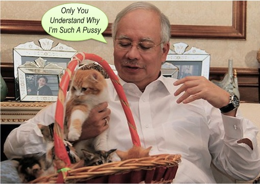 Najib Razak Talks To Pussy Cat - Only It Understand Why Such A Pussy