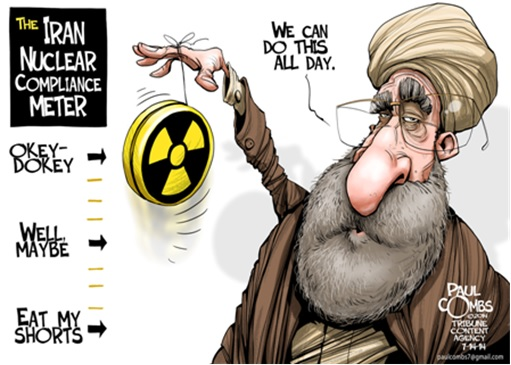 Nuclear Deal - Cartoon Iran Nuclear Compliance Meter