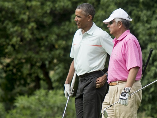 Obama Golfing with Najib