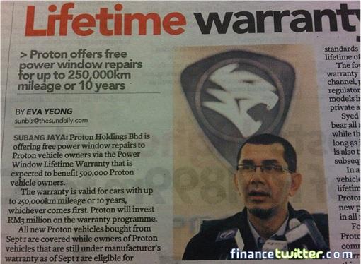 Proton Cars Window Problem - Offers Lifetime Warranty