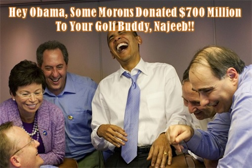 1MDB Najib 700 Million Donation - Obama and Staffs Laugh At Arab Morons