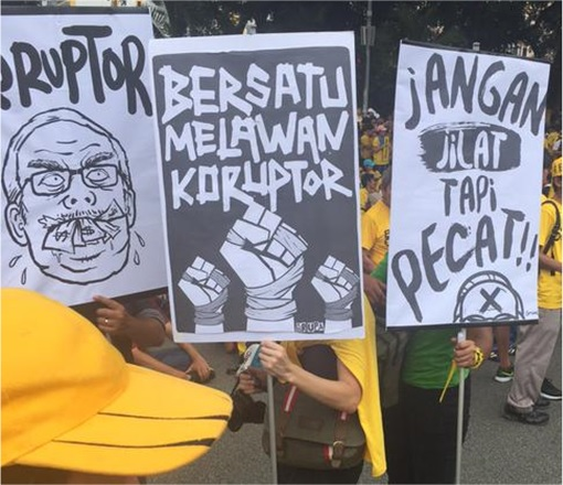 Bersih 4.0 - Charming and Creative Photo - Corruptor - Do Not Lick But Fire