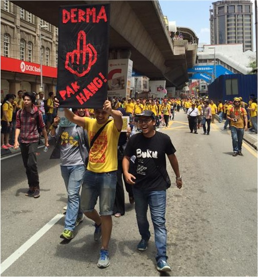Bersih 4.0 - Charming and Creative Photo - Donation Middle Finger