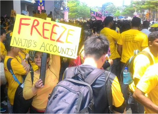 Bersih 4.0 - Charming and Creative Photo - Freeze Najib Account