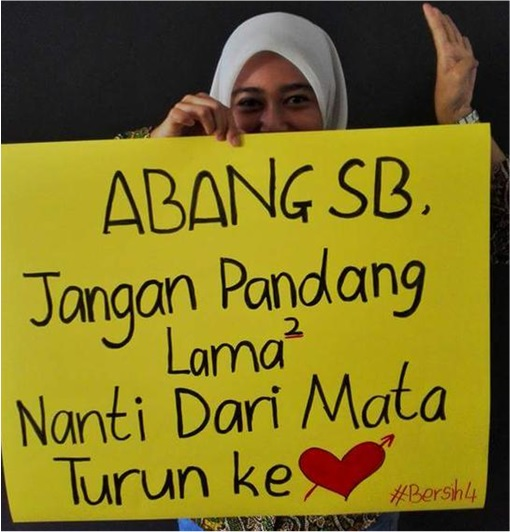 Bersih 4.0 - Charming and Creative Photo - Message for Special Branch