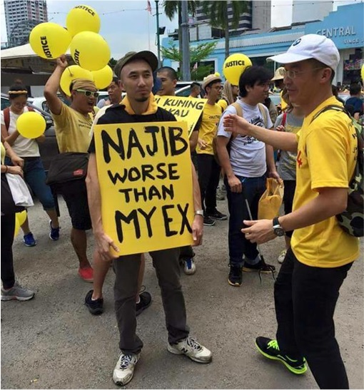Bersih 4.0 - Charming and Creative Photo - Najib Worse Than My Ex